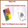Magic card-4 Colors Diamond Back Fanning and Manipulation Cards,Magic Trick,magic props,stage magic