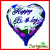 Matellic Foil Balloons With Heart Shaped Happy Birthday