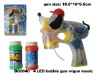 Musical flashing dog bubble gun with 4 LED, hot selling toy gift