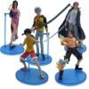 One Piece Luffy ACE BOA Shanks Zoro Figure Set of 5pcs