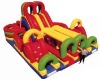 Outdoor two-side slides inflatable toy