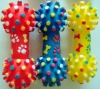 PVC toy-spikey dumbbell with paw printed,dog toy,pet supply