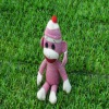 Pink Cute Stuffed Plush sock monkey
