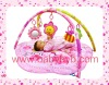 Pink Flower Music Party baby gym mat