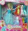Plastic Beautiful Cute Girl Doll Toy