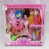 Plastic Doll with beautiful cloth and 2 girls,beauty solid doll with 4 models ,Vinyl doll