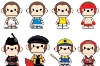 Plastic Monkey Cartoon Toy/Character models