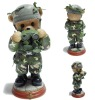 Plastic bear soldier toy