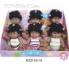 Plastic black dolls