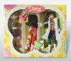 Plastic fashionable doll set