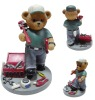 Plastic figure toy bear (accept OEM)