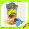 Plastic gun frisbee toy