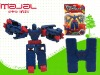 Plastic letter H educational robot toys