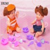 Plush dolls with furniture baby toys