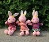 Promotional dressed plush bunny toys,plush wedding toy,dancing bunny toy,plush rabbit