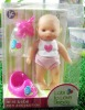 Promotional gift for kids suiting plastic doll