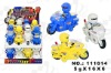 Pull Back Police Motorbike Toy Candy(111614)