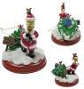 Pvc toy santa figure action figure