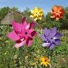 Ring-typed Flower Spinning Garden Stake