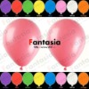 Rose Red Metallic Latex Balloon