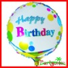 Round Foil Balloons With Happy Birthday Character