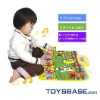 Rubber play mat with music and multi-function