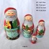 S/4 Santa Claus Nesting Dolls