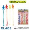 Sell sticky baby toy, sticky Plastic toy