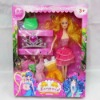 Solid beauty doll with accessories, plastic baby doll