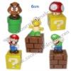 Super mario bros toys(H6cm)
