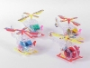 TRANSPARENT WIND UP PLANE(4)(CAN PUT SOME SWEETS)