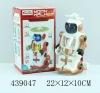Turn 360 degree BO walking Robot toy with light 439047