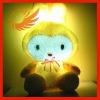 Yellow LED Light Decorative Pillow Cushion Rabbit Doll [BZ22]