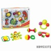 baby bell 6pcs, baby sleeping plastic mobile toys,