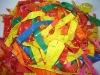 beautiful gift rocket latex balloon for children