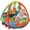 big inflatable with print and applique animals baby play mat