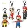 cartoon super mario bros key chain characters toys
