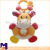 chewy teether spinning rattlel plush hippo,infant hanging soft rattle toys