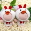 chicken 3d photo face doll for mobile chain