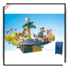 children colourful  funny animal merry go round