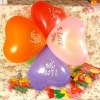 colorful hearted shaped balloon