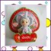 cute Ddung doll keychain,pvc doll
