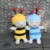 cute bee plush toy,plush wedding toy,baby plush doll,plush mini stuffed animals,plush animal