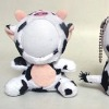 cute cow 3d photo face dolls
