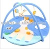 cute light blue patchwork deer baby play gym