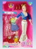 fashion doll Set plastic toy