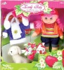 fashion plastic baby doll with clothes for kids