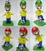 football super mario bros vinyl toys(6 in 1 set)