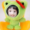 frog 3d photo face dolls