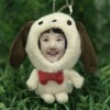 funny 3d photo face for key chain/mobile chain